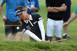 June 17, 2018 - Belmont, Michigan, United States - So Yeon Ryu of Korea hits out of the bunker toward the 8th green during the final round of the Meijer LPGA Classic golf tournament at Blythefield Country Club in Belmont, MI, USA  Sunday, June 17, 2018. (Credit Image: © Jorge Lemus/NurPhoto via ZUMA Press)