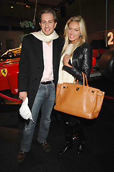PETRA ECCLESTONE and JAMES STUNT at a preview of a forthcoming sale of cars from the Bernie Ecclestone Car Collection held at Battersea Evolution, Battersea Park, London SW11 on 30th October 2007.<br /><br />NON EXCLUSIVE - WORLD RIGHTS