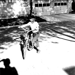 HS584  George W. Bush with his English Racer bicycle, Midland, TX, circa 1955.<br /> Photo Credit:  George Bush Presidential Library