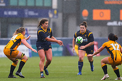 The home side try to find a way back into the game at a rain-soaked Sixways - Mandatory by-line: Nick Browning/JMP - 24/10/2020 - RUGBY - Sixways Stadium - Worcester, England - Worcester Warriors Women v Wasps FC Ladies - Allianz Premier 15s
