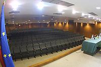 LISBOA-20 OUTUBRO:PRESS CONFERANCE ROOM (sala de conferncia de imprensa) do Est‡dio Alvalade XXI¼ casa da equipa da super liga do Sporting C.P. e que vai albergar o EURO 2004, 20-10-03 19:45 no est‡dio Alvalade XXI.<br />(PHOTO BY: AFCD/NUNO ALEGRIA)