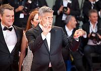 Matt Damon, Julianne Moore and George Clooney at the premiere of the film Suburbicon at the 74th Venice Film Festival, Sala Grande on Saturday 2 September 2017, Venice Lido, Italy.