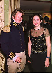 COUNT DIMITRI TOLSTOY-MILOSLAVSKY and his sister COUNTESS XENIA TOLSTOY-MILOSLAVSKY children of Count Nikolai Tolstoy-Miloslavsky, at a ball in London on 10th February 1998.MFH 13