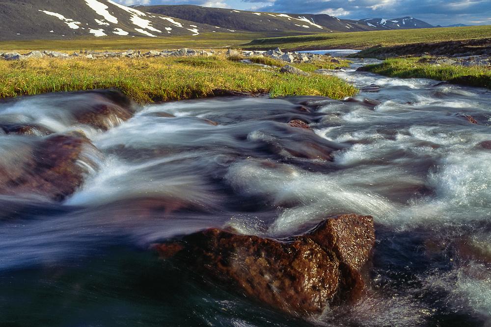 Stream near Chukchi reindeer camp, Val 'karvaam Valley, Chukotsk Peninsula, Northeast  Russia