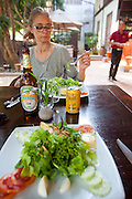 Lunch at the 3 Nagas Restaurant in Luang Prabang, Laos.