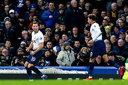 Harry Kane of Tottenham Hotspur celebrates scoring a goal to make it 3-1 - Mandatory by-line: Robbie Stephenson/JMP - 23/12/2018 - FOOTBALL - Goodison Park - Liverpool, England - Everton v Tottenham Hotspur - Premier League