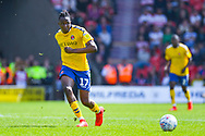 Joe Aribo of Charlton Athletic (17) passes the ball during the EFL Sky Bet League 1 play off first leg match between Doncaster Rovers and Charlton Athletic at the Keepmoat Stadium, Doncaster, England on 12 May 2019.