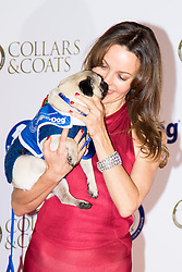 "Battersea, London, November 3rd 2016.  Celebrities and their dogs attend The Evolution at Battersea Park to attend The Battersea Dogs and Cats Home ""Collars and Coats Ball"". PICTURED: Kim Frickleton"