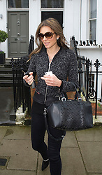 Liz Hurley  leaving her house in London, Thursday, 6th February 2014  Photo by: i-Images