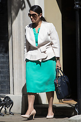 Downing Street, London, July 19th 2016. International Development Secretary Priti Patel leaves the first full cabinet meeting since Prime Minister Theresa May took office.