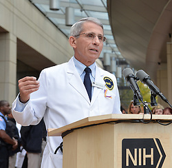 Anthony Fauci, Director of the National Institute of Allergy and Infectious Diseases,speaks during a news conference in Maryland, the United States, on Oct. 24, 2014. Nina Pham, who contracted Ebola while caring for a patient from Liberia was released from the hospital Friday, officials at the U.S. National Institutes of Health (NIH) treating her said in Maryland. EXPA Pictures © 2014, PhotoCredit: EXPA/ Photoshot/ Bao Dandan<br /> <br /> *****ATTENTION - for AUT, SLO, CRO, SRB, BIH, MAZ only*****