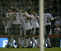 Photo: Steve Bond.<br />Derby County v Southampton. Coca Cola Championship. Play Off Semi Final, 2nd Leg. 15/05/2007. Derby County celebrate their equaliser