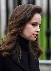 © Licensed to London News Pictures. 31/03/2018. Cambridge, UK. Actress FELICITY JONES, arrives for The funeral of Stephen Hawking at Church of St Mary the Great in Cambridge, Cambridgeshire. Professor Hawking, who was famous for ground-breaking work on singularities and black hole mechanics, suffered from motor neurone disease from the age of 21. He died at his Cambridge home in the morning of 14 March 2018, at the age of 76. Photo credit: Ben Cawthra/LNP