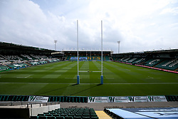 A general view of Franklin's Gardens ahead of the behind closed door Gallagher Premiership fixture between Northampton Saints and Wasps as Rugby resumes after the suspension of the season due to Covid-19 - Mandatory by-line: Robbie Stephenson/JMP - 16/08/2020 - RUGBY - Franklin's Gardens - Northampton, England - Northampton Saints v Wasps - Gallagher Premiership Rugby