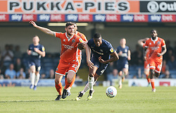 Luke Waterfall of Shrewsbury Town and Emile Acquah of Southend United tussle for the ball - Mandatory by-line: Arron Gent/JMP - 30/03/2019 - FOOTBALL - Roots Hall - Southend-on-Sea, England - Southend United v Shrewsbury Town - Sky Bet League One