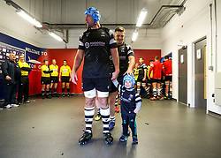 Jordan Crane's son Hunter is the matchday mascot - Rogan/JMP - 19/01/2019 - RUGBY UNION - Ashton Gate Stadium - Bristol, England - Bristol Bears v Enisei STM - European Rugby Challenge Cup.