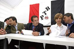 A candidata ao governo do Estado do RS, Yeda Crusius (PSDB) na sede do PTB-RS onde recebeu o apoio formal a sua candidatura no segundo turno . FOTO: Jefferson Bernardes/Preview.com