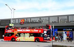 A Barcelona City Tour bus drives past the Camp Nou Stadium - Mandatory by-line: Matt McNulty/JMP - 14/03/2018 - FOOTBALL - Camp Nou - Barcelona, Catalonia - Barcelona v Chelsea - UEFA Champions League - Round of 16 Second Leg