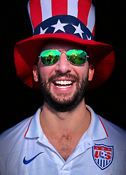 iPhone Portraits of the 2017 Presidents Cup, fan, Jersey City, New Jersey