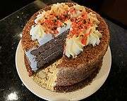 A Carrot Cake at the Luna Pizza, Pasta & Wings in O'Fallon. It's located on Route 50, across from Wal-Mart.