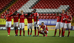 Charlton U23's players during the penalty shoot out