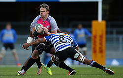 Hennie Skorbinski of the Pumas attempts to get past Nizaam Carr of Western Province during the Currie Cup Premier Division match between the DHL Western Province and the Pumas held at the DHL Newlands rugby stadium in Cape Town, South Africa on the 17th September  2016<br /> <br /> Photo by: Shaun Roy / RealTime Images