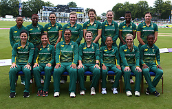 June 15, 2018 - Canterbury, England, United Kingdom - South Africa Women Team shoot.during Women's One Day International Series match between England Women against South Africa Women at The Spitfire Ground, St Lawrence, Canterbury, on 15 June 2018  (Credit Image: © Kieran Galvin/NurPhoto via ZUMA Press)