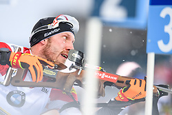 March 16, 2019 - –Stersund, Sweden - 190316 Dominik Landertinger of Austria competes in the Men's 4x7,5 km Relay during the IBU World Championships Biathlon on March 16, 2019 in Östersund..Photo: Petter Arvidson / BILDBYRÃ…N / kod PA / 92269 (Credit Image: © Petter Arvidson/Bildbyran via ZUMA Press)