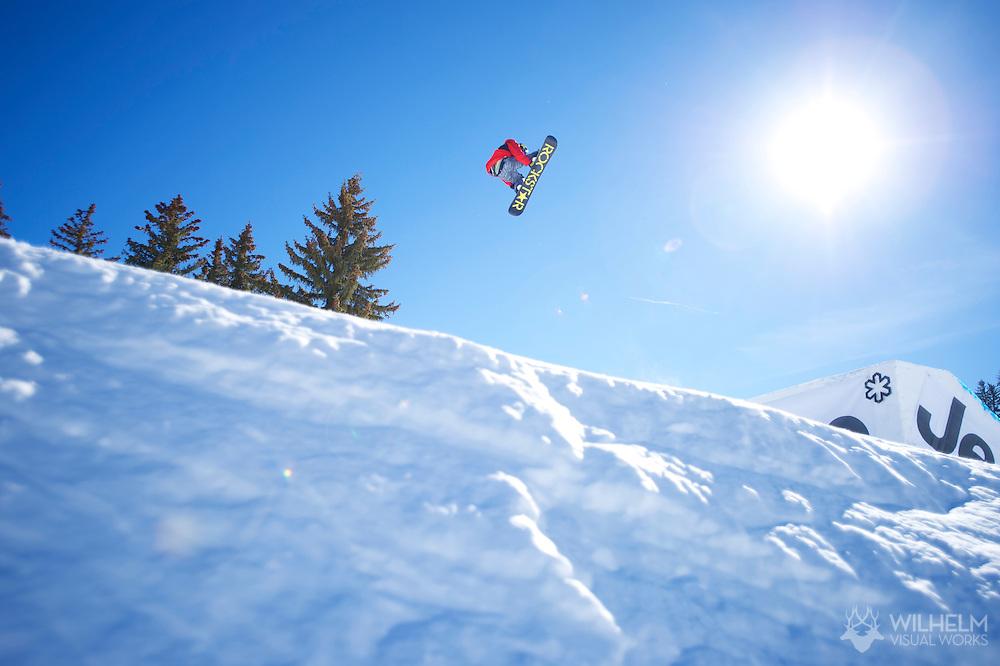 Chas Guldemond during Snowboard Slopestyle Finals at 2014 X Games Aspen at Buttermilk Mountain in Aspen, CO. ©Brett Wilhelm/ESPN