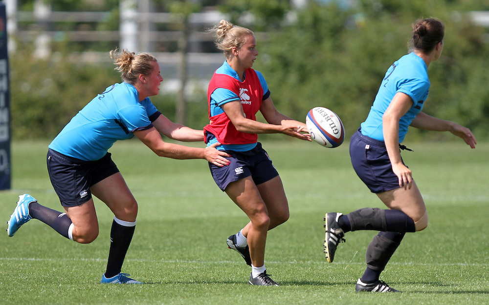 Kay Wilson during training. England WRWC Training Camp at Surrey Sports Park, Guildford, England on 22 July 2104.