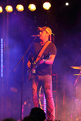 20 September 2014:   Dustin Reynolds.  Brushville performs at the Chris Brown Benefit Concert at the Corn Crib Stadium, Normal Illinois.  The band is comprised of Brett Gillan - frontman-guitar-vocals, Kirk Ellis - violin-guitar, Dustin Reynolds - guitar, Marc Broomby - bass, Darin Holthaus - drums