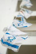 a string of Israeli Flags