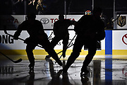LAS VEGAS, NV - MARCH 31:  skates against the San Jose Sharks during the game at T-Mobile Arena on March 31, 2018 in Las Vegas, Nevada.  (Photo by Jeff Bottari/NHLI via Getty Images)