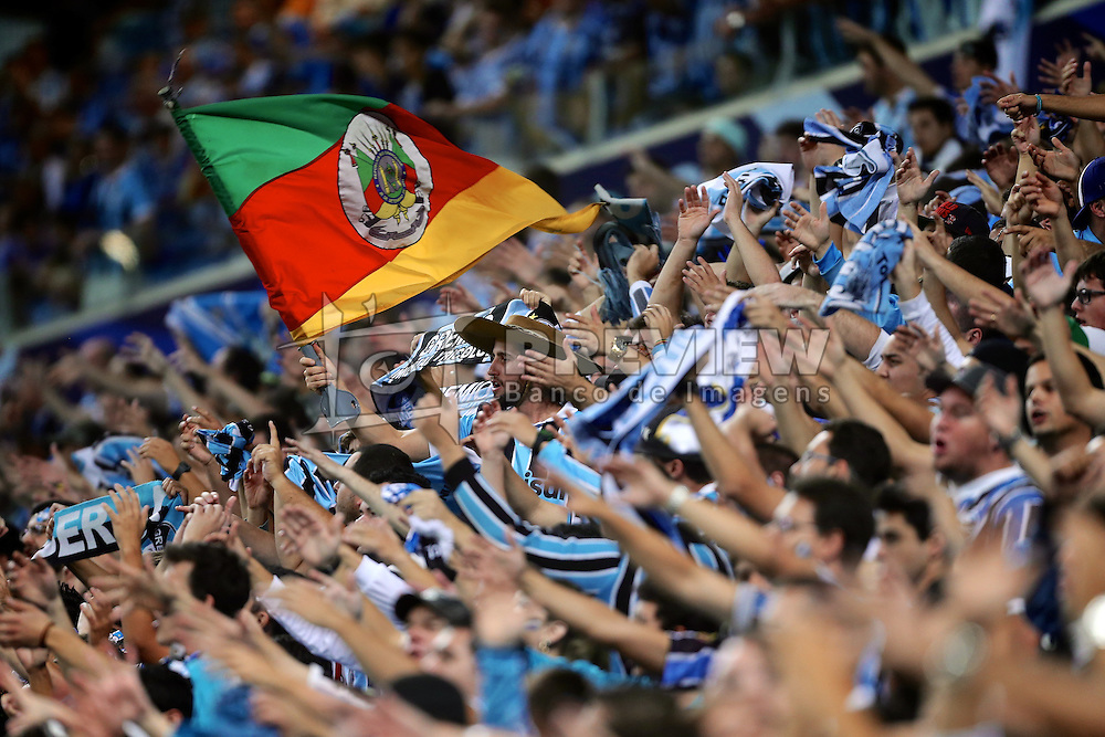 Torcida geral do Grêmio no Estádio Arena do Grêmio, em Porto Alegre. FOTO: Jefferson Bernardes/Preview.com