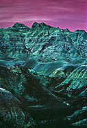 South Dakota, Badlands National Park, infared film.Created in 1976