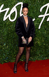 Rihanna arriving at the British Fashion Awards 2014, the Colosseum Theatre, London.