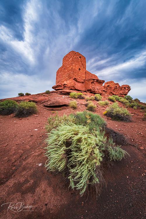Evening light on Wukoki Ruin, Wupatki National Monument, Arizona USA