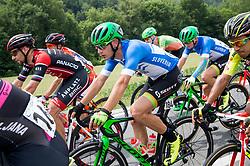 Matej Mugerli (SLO) of Amplatz - BMC, Luka Cotar (SLO) of Slovenija National Team during Stage 2 of 24th Tour of Slovenia 2017 / Tour de Slovenie from Ljubljana to Ljubljana (169,9 km) cycling race on June 16, 2017 in Slovenia. Photo by Vid Ponikvar / Sportida