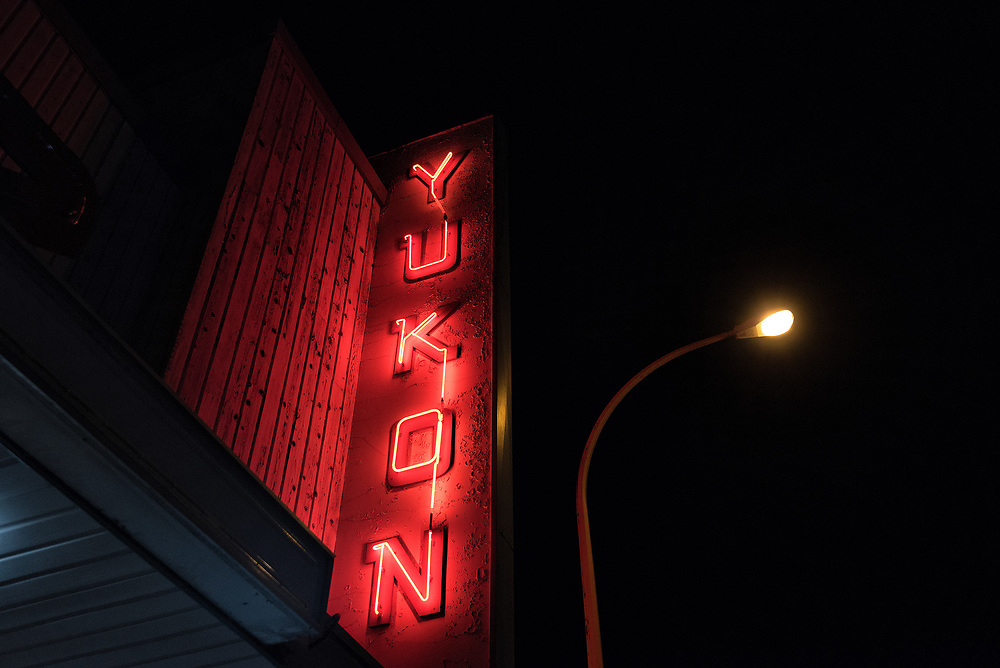 Sign in front of the Yukon Cinema
