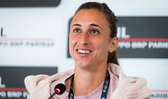 Petra Martic of Croatia talks to the media after winning her quarter-final match at the 2021 Internazionali BNL d'Italia, WTA 1000 tennis tournament on May 14, 2021 at Foro Italico in Rome, Italy - Photo Rob Prange / Spain ProSportsImages / DPPI / ProSportsImages / DPPI