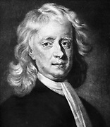 Isaac Newton (1642-1727) English mathematician, astronomer and physicist. Differential calculus: gravitation: wave nature of light: reflecting telescope. Mezzotint
