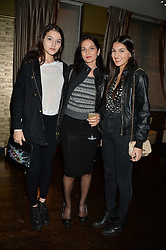 Left to right, MADDIE MILLS, YASMIN MILLS and LAUREN MILLS at a party to launch Madderson London Women's Wear held at Beaufort House, 354 Kings Road, London on 23rd January 2014.