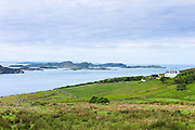Scottish landscape the Summer Isles, part of the Inner Hebrides, from Polbain on the West Coast of Scotland