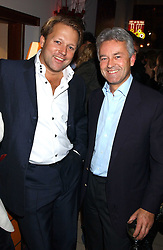 Left to right, DAVID ROSS co-founder of Carphone Warehouse and ALAN DUNCAN MP at a party for the relaunch of Pizza on The Park, 11 Knightsbridge, London on 20th October 2005.<br /><br />NON EXCLUSIVE - WORLD RIGHTS