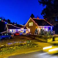 Et hus i Randesund Kristiansand som har tatt på seg julestemningen 3 desember 2014.<br /> <br /> A house in Randesund, Kristiansand have put on the christmas feeling december 3 2014.
