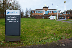 © Licensed to London News Pictures. 08/02/2020. Milton Keynes, UK. The entrance to the Kents Hill Park Training and Conference Centre. A Milton Keynes conference centre is to house evacuees from the Chinese city of Wuhan, the epicentre of the Novel Coronavirus (2019-nCoV) outbreak, the British citizens are due to be flown back on Sunday 9th February and are expected to land at RAF Brize Norton in Oxfordshire and will remain at the conference centre for 14 days to be monitored. Photo credit: Peter Manning/LNP