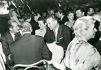 1955 Bob Hope, Jane Russell & Bob Waterfield at Mocambo Nightclub on Sunset Blvd. in West Hollywood