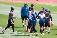 Coach Julen Lopetegui, Iago Aspas, Marco Asensio and César Azpilicueta during Spain training session a few days before soccer match between Spain and Argentina in Madrid , Spain. March 24, 2018. (ALTERPHOTOS/Borja B.Hojas)