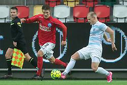 Rasmus Carstensen (Silkeborg IF) og Philip Rejnhold (FC Helsingør) under kampen i 1. Division mellem Silkeborg IF og FC Helsingør den 21. november 2020 i JYSK Park (Foto: Claus Birch).
