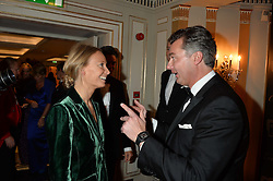 MARTHA WARD and LAURENT FENIOU at the 26th Cartier Racing Awards held at The Dorchester, Park Lane, London on 8th November 2016.